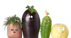 Grönsakfamilj Arkivfoto