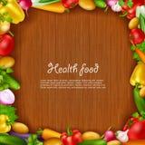 Grönsakhälsokostbakgrund stock illustrationer