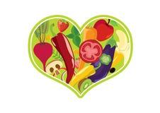 Grönsakhjärtavektor Royaltyfria Bilder