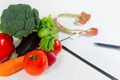 Grönsakingredienser för att banta och bantar plan Arkivbilder