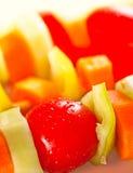 Grönsakkebab Fotografering för Bildbyråer
