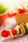 Grönsakkebab Arkivfoto
