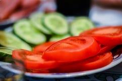 Grönsakklipp är det bästa mellanmålet på tabellen royaltyfria bilder