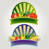 Grönsakklistermärke Royaltyfria Bilder
