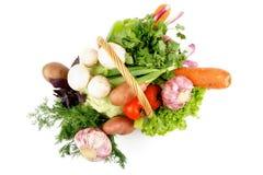 Grönsakkorg arkivfoton