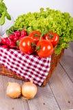Grönsakkorgen för det sunt bantar Fotografering för Bildbyråer