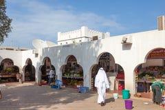 Grönsakmarknad i emiraten av Ajman Royaltyfria Bilder