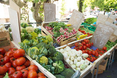 Grönsakmarknad i Frankrike Arkivbilder