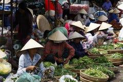 Grönsakmarknad Vietnam royaltyfri foto