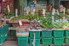 Grönsakmarknadsspjällådor Royaltyfria Bilder