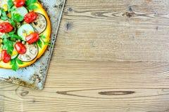 Grönsakpizza Fotografering för Bildbyråer