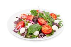 Grönsaksallad med den mini- mozzarellaen Arkivbilder