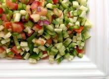 Grönsaksalladsnitt in i fyrkanter Royaltyfria Bilder
