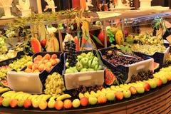 grönsakshandlare Fruktaffär Ny frukt Fruktmarknad Livsmedelsbutik royaltyfri bild
