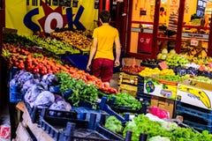 Grönsakshandlare Storefront Arkivfoton