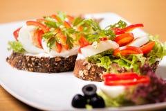 Grönsaksmörgås royaltyfri foto