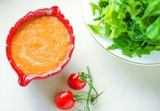 grönsaksouce - banta och det sunda utformade begreppet för äta recept royaltyfri bild
