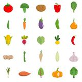 Grönsaksymbolsuppsättning, lägenhetstil vektor illustrationer