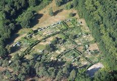 Grönsakträdgård i Frankrike Arkivbild