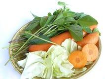 Grönsakuppsättningen för sunt bantar mat Arkivfoto