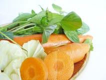 Grönsakuppsättningen för sunt bantar mat Royaltyfri Foto