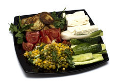 Grönsakvegetarianmat Arkivbild