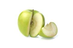 Grönt äpple Arkivbild
