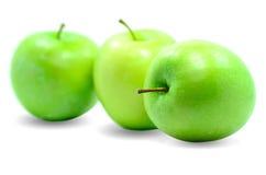 Grönt äpple. Arkivbild