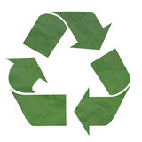 grönt återanvändande symbol Arkivbild
