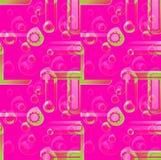 Grönt överdra för vanliga rosa färger för cirkelmodell som magentafärgade violetta är suddigt Royaltyfri Foto