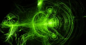 Grönt abstrakt begrepp fodrar kurvpartikelbakgrund Arkivbilder