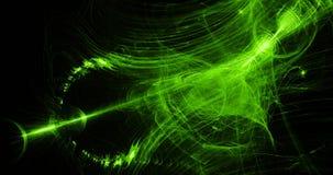 Grönt abstrakt begrepp fodrar kurvpartikelbakgrund Royaltyfria Bilder