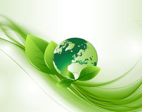 Grönt abstrakt ekologijordklot Backround Royaltyfri Bild