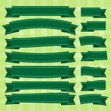 Grönt band för vektor Royaltyfri Bild