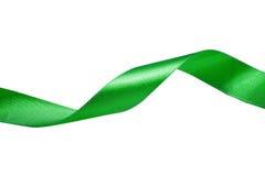 Grönt band som isoleras på vit bakgrund Royaltyfria Foton