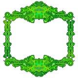 Grönt Batikabstrakt begrepp för ram Arkivbild