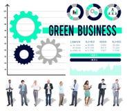 Grönt begrepp för affärsmiljövårdfinans Arkivbilder