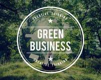 Grönt begrepp för miljö för affärsjordekologi royaltyfri fotografi