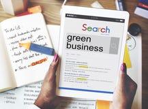 Grönt begrepp för miljö för affärsjordekologi arkivbilder