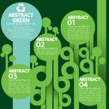 Grönt begrepp Infographic. Arkivbild