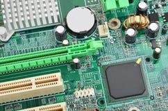 Grönt datormoderkort Arkivbilder