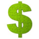 Grönt dollarpussel Royaltyfri Bild