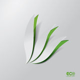 Grönt Eco begrepp - abstrakt blad. Royaltyfria Foton