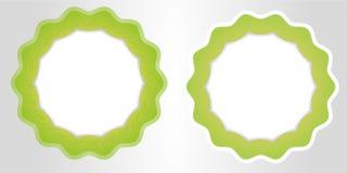 grönt ecobladbaner för din mall för textvektoraffär Royaltyfri Bild