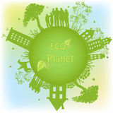 Grönt ekologiskt planet Royaltyfri Foto