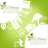 Grönt ekologiskt planet Royaltyfria Foton