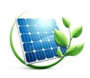 Grönt energibegrepp för solpanel royaltyfri illustrationer