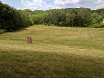 Grönt fält av gräs Fotografering för Bildbyråer