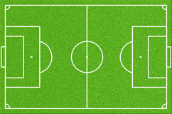 Grönt fotbollfält Arkivfoto