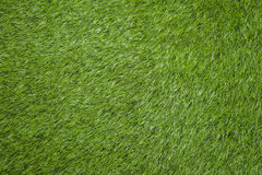grönt fotbollfält från bästa sikt Arkivbild